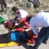 نجات یک کوهنورد از مرگ حتمی توسط تیم هلال احمر لاهرود
