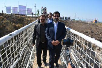 دومین پل معلق مشکین شهر افتتاح شد